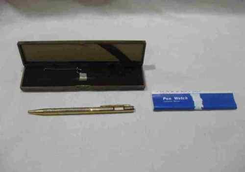 "Neat Vintage 5 1/2"" CompuChron Pen Watch In Box"