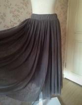 Women Gray Irregular Midi Tulle Skirt Gray Bridesmaid Midi Tulle Skirt Plus Size image 7