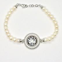 Bracelet en Argent 925 Perles D'Eau Douce Camée Cameo Zircone Cubique image 1