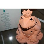 PartyLite ~ Terra Cotta Candle Holder   *FROG PRINCE*   NIB - $28.49