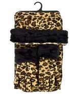 Women's Brown Leopard 3-Piece gloves scarf Hat Faux Fur Winter Set WSET92 - $18.89