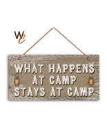 What Happens At Camp Stays At Camp Sign, Campground 5x10 Sign, Camping Sign - $11.39