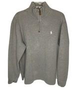 Polo Ralph Lauren Pullover Shirt Gray Zipper  - $18.86