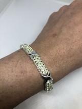Vintage Peridot Bracelet 925 Sterling Silver Deco Tennis Bracelet - $183.15