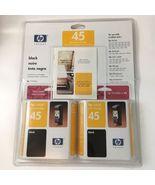 HP Inkjet Print Cartridge 45 Black Twin Pack hp51645a New Sealed - $23.70