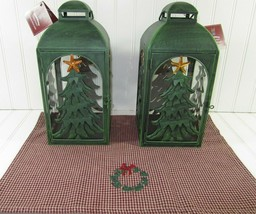 NEW ST NICHOLAS SQUARE FARMHOUSE CHRISTMAS CANDLE HOLDER LANTERNS (2) w ... - £30.63 GBP