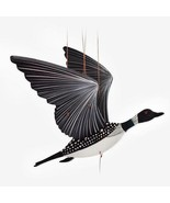 Loon Bird Flying Hanging Mobile Wood Colombia Fair Trade New - £35.83 GBP