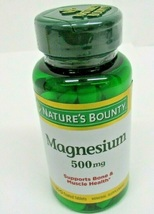 New Nature's Bounty Magnesium High Potency 500mg Mineral Supplement Tab 100 CT - $61.90