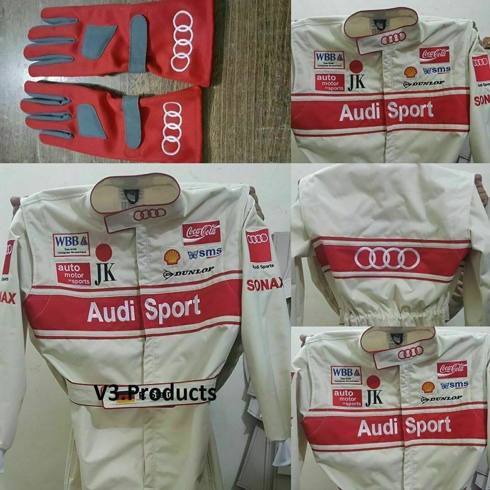 Primary image for AUDI Go Kart Race Suit CIK FIA Level 2 with free Gloves and balaclava