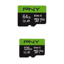 PNY 64GB Elite-X Class 10 U3 V30 MicroSDXC Flash Memory Card with PNY El... - $56.99