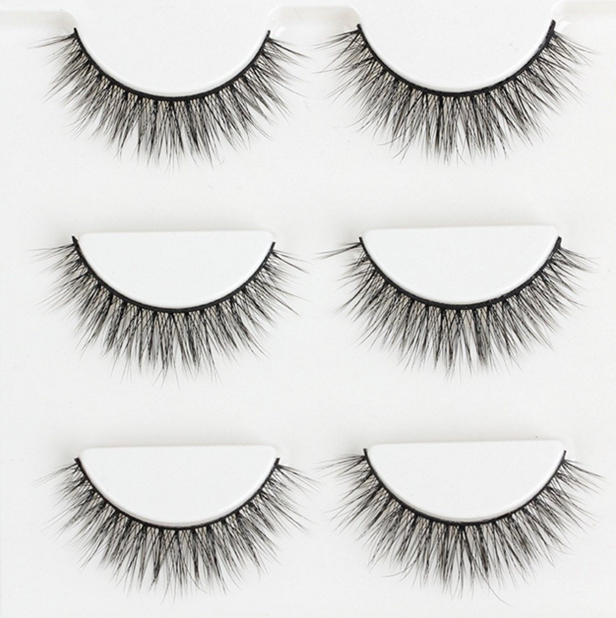 Aspiring 1 Pair Soft Cross New Luxurious 100% Real Mink Natural Thick Fake Eye Lashes False Eyelashes Makeup Tools Beauty & Health