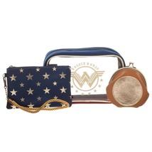 Wonder Woman Cosmetics Bag Set Blue - $29.98