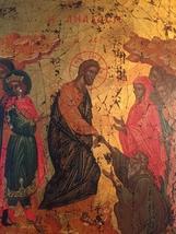 Handmade 80s European Byzantine Icon Art: Resurrection image 6