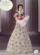 Frances Cleveland & Baby Outfit fits Barbie First Ladies Crochet Pattern... - $8.07