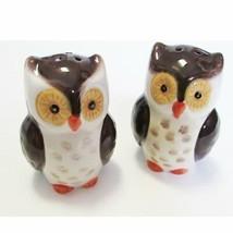 Salt and Pepper Shaker Set Owl Owls Ceramic Woodland Lodge - $14.84