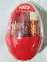 Lip Smacker Coca-Cole Lip Balm Egg 3Pack Coca-Cole, Vanilla, Cherry net wt .42oz - $17.99
