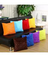 "18x18"" Soild Plush Pillowcase Round Stripes Sofa Throw Cushion Cover Hom... - $4.59"