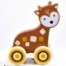 Applesauce Deer Baby Wooden Pull Toy for Toddlers Children Ages 12+ Month image 6