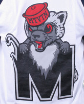 Motivation Ann Arbor Hommes Marine Blanc Cacher Mascotte 3/4 Manche Raglan Nwt image 2