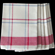 Tea Towel Classic Pattern, 100% Lint Free, Colorfast  French Cotton - $9.99