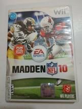 Madden NFL 10 (Nintendo Wii Wii-U, 2009) Complete Football Game TESTED cib - $5.89