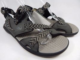 Keen Maupin Men's Sandals Size US 9 M (D) EU 42 Raven / Gargoyle Silver Black