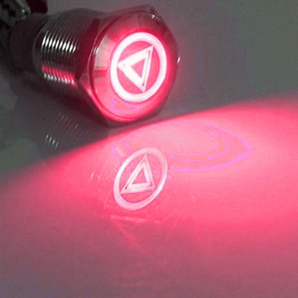 Lot5 12V 20A Bar Rocker Toggle Switch Red LED Light 4Pin Holder Car Boat