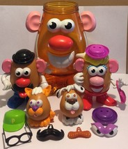 Mr Potato Head Family Mr & Mrs With Dog & Cat Pets Oversized Potato Cont... - $37.72