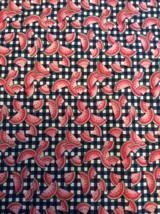 "Watermelon Checkered Fabric Traditions 45"" X 96"" 2+ Yards Slice Fruit Co... - $15.86"