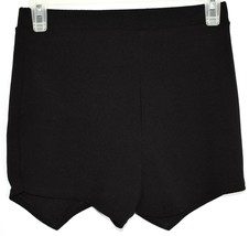 Boohoo Black Asymmetrical Envelope Textured Knit Skort Size US 4 | UK 8 image 2