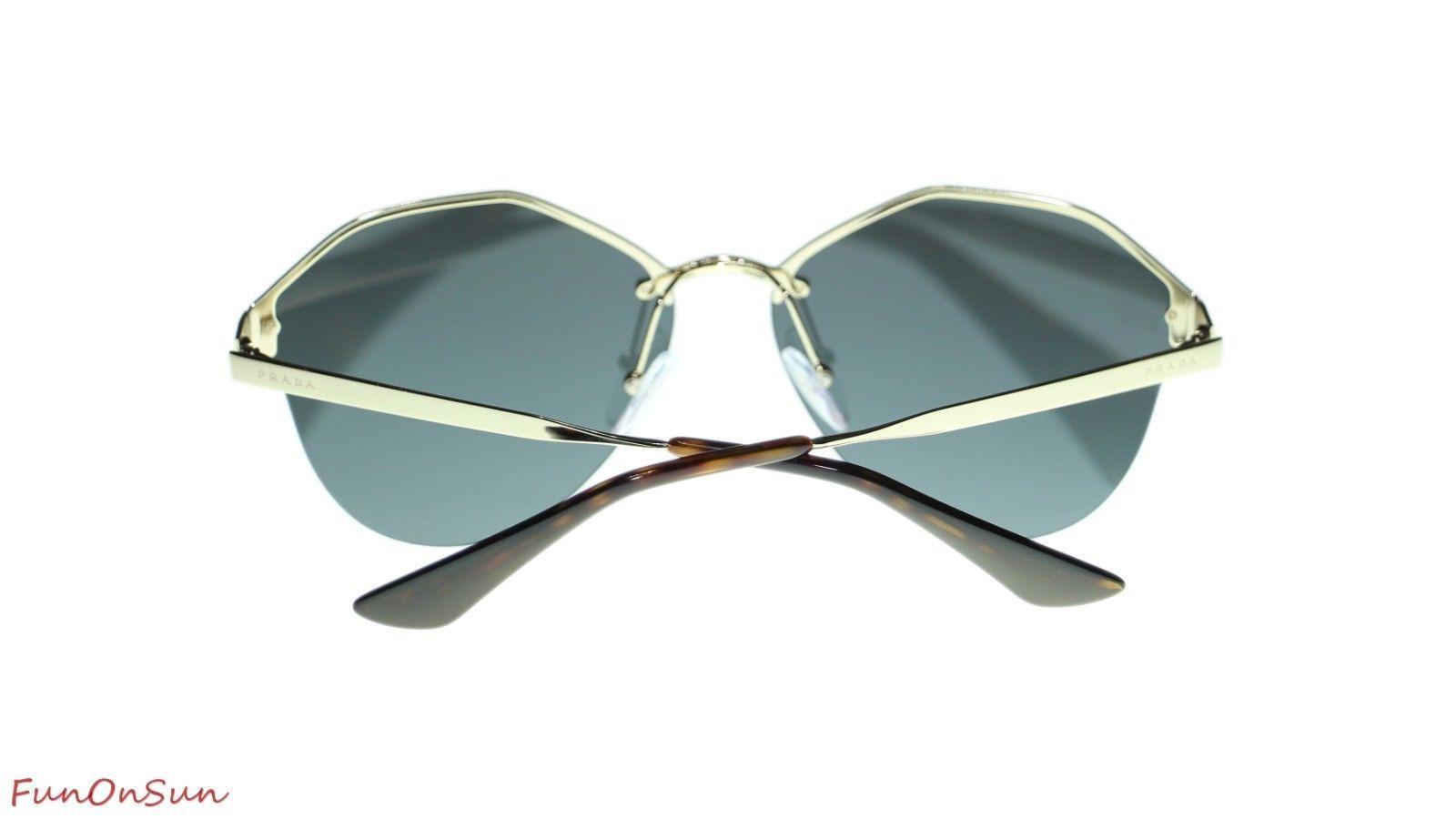 2fc84ae5c95 Prada Women Sunglasses PR64TS SVN4L0 Pale Gold Dark Grey Mirror Gold Lens  66mm