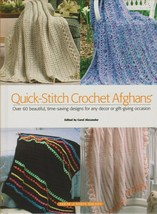"""Hard Covered Book - """"Quick-Stitch Crochet Afghans"""" - White Birches - Gently Used - $18.00"""