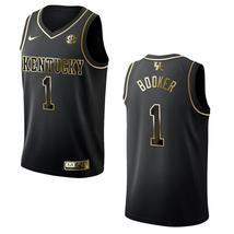 Men's Kentucky Wildcats #1 Devin Booker NCAA Golden Edition Jersey - Black - $59.99