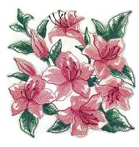 BeyondVision Custom Blooming Flowers Sketch[Sketched Azaleas ] Embroider... - €8,51 EUR