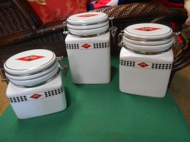 """Great Collectible Set of Three GIBSON """"Coca Cola"""" CANISTERS - $36.44"""