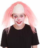 Half Bald Head Funny Men Wig Pink HM-1195 - $29.85