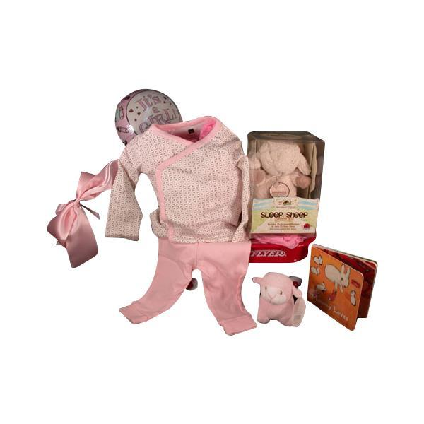"Primary image for Tea Collection"" 2-Piece Outfit With ""Sleep Sheep On The Go"" Baby Girl Gift"