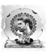 George Michael Cut Glass Round Plaque Remembrance Ltd Edition |7 - $31.95
