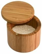Sea Salt Keeper Storage Kosher Spice Rack Bamboo Chest w/ Lid Tight Seal... - $27.71