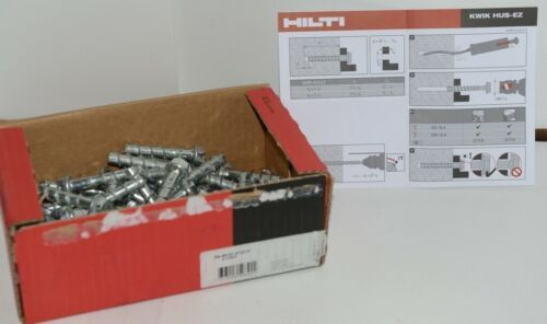 "Hilti 418056 KH EZ Concrete and Masonry Screw Anchor Silver 3/8"" x 2 1/8"" 50 pcs"