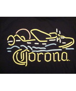 New Corona Mexico  Mexican Beer Party black neon style  t Shirt S - $15.59 CAD