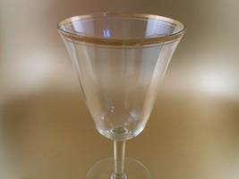 Vintage Wine Water Glasses Gold Trim Goblets Fluted Crystal Stemware - $6.00