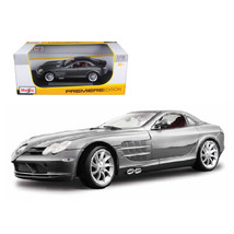 Mercedes Mclaren SLR Grey 1/18 Diecast Model Car by Maisto 36653gry - $51.01