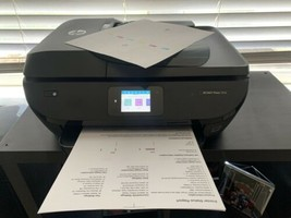 HP ENVY Photo 7858 All-in-One Inkjet Photo Printer Scanner Mobile Print No Ink - $99.00