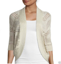 Liz Claiborne 3/4 sleeves Crochet Cardigan Sweater Size PXL New - $19.99