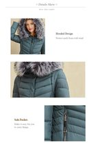 Women's Famous Brand Designer Full Length Quilted Fur Lined Hooded Puffer Parka  image 5