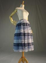 Gray Midi Tulle Skirt Tiered Tutu Skirt Ballerina Tulle Skirt image 3