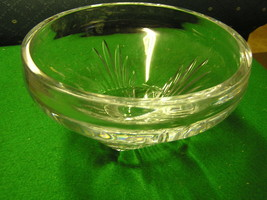 Beautiful   ROSENTHAL Very, Very Heavy CRYSTAL Display BOWL....SALE - $94.05