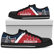 Washington Capitals Fan Custom Shoes Converse Style Men Women Birthday Gift - $69.30