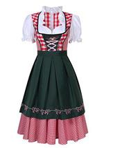 Oktoberfest Costume Bavarian Plaid Dress Halloween Party Maid Costume bl... - $33.26